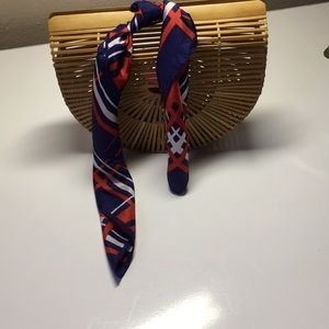 Vintage red white and blue scarf